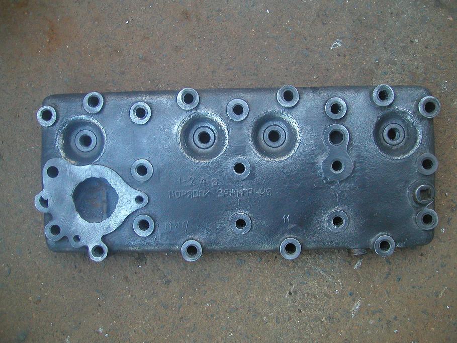Реставрированное место установки корпуса термостата. Осталось поправить отверстие под шпильку.JPG