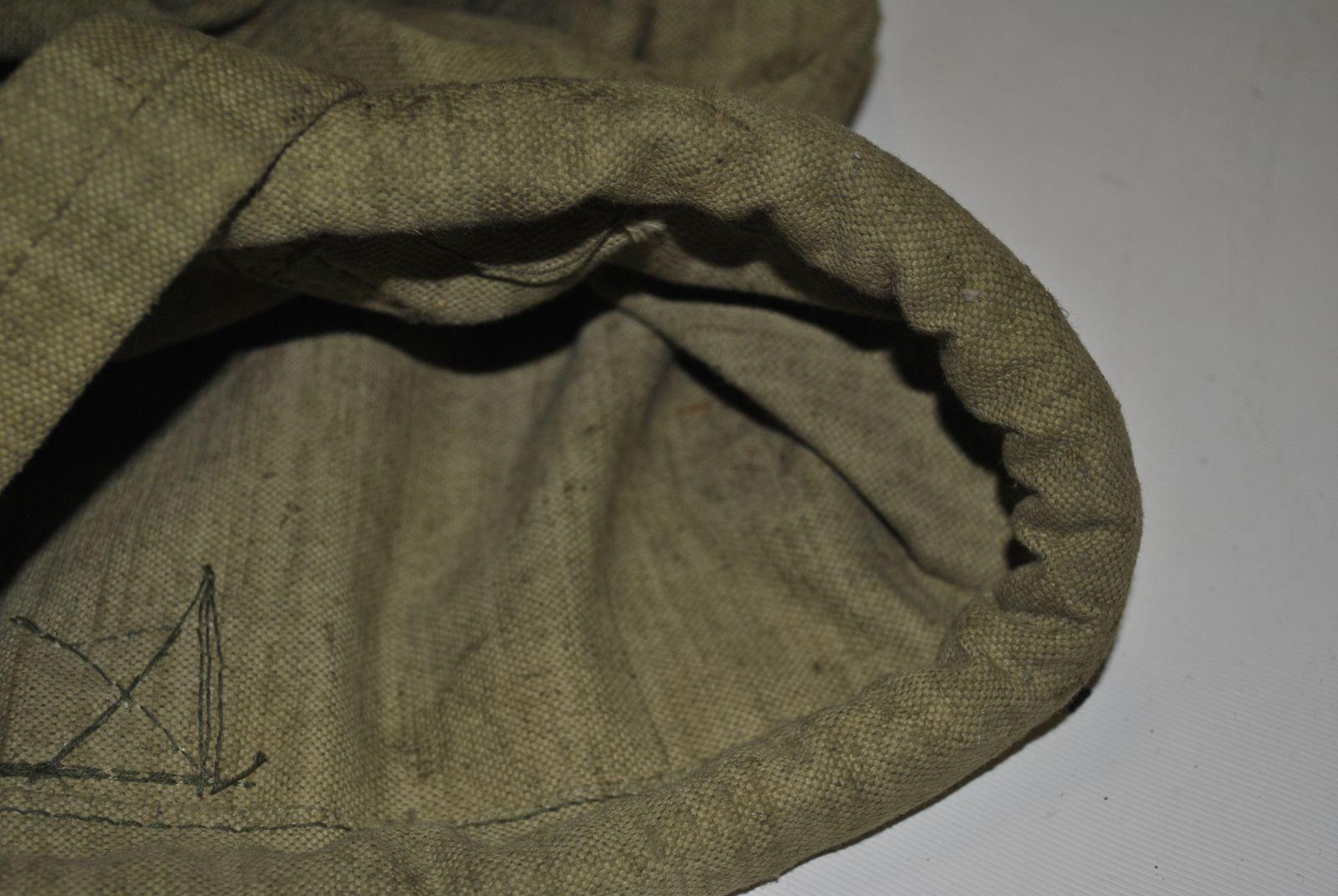 в основание и горловину вшита верёвка,10-15 мм (сечение)