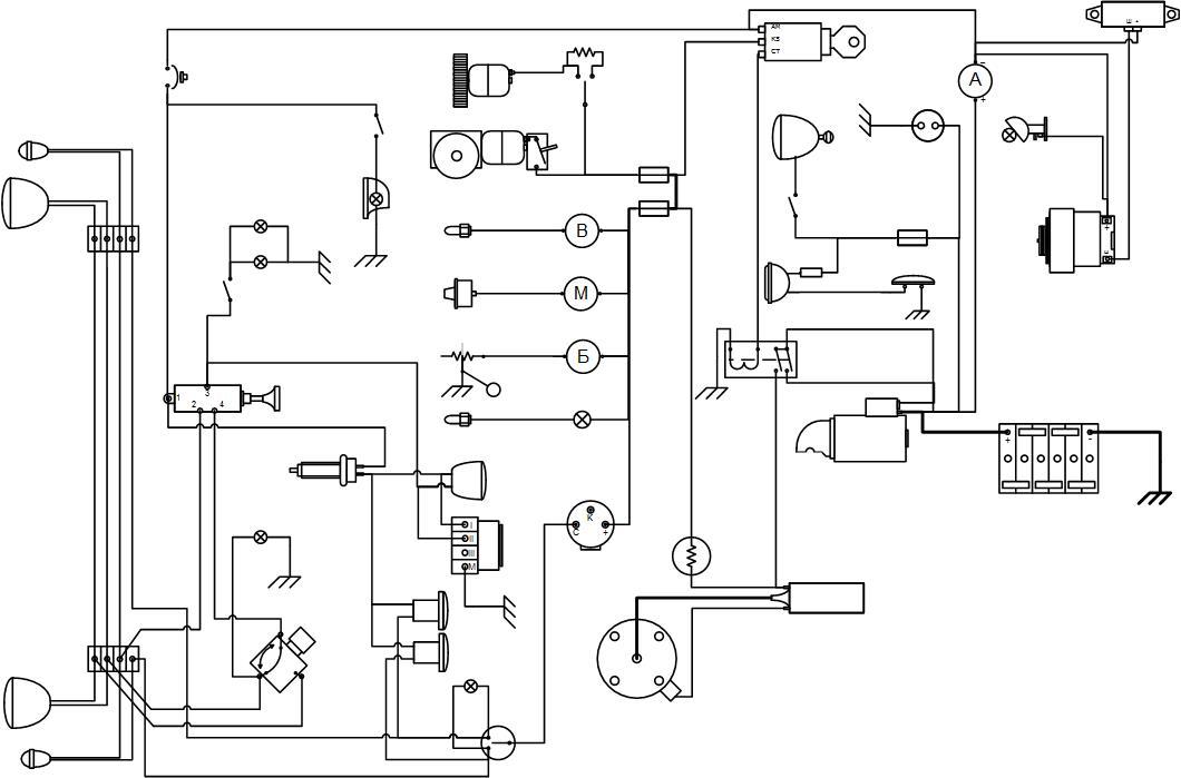Схема Электрооборудования ГАЗ69 (56г)