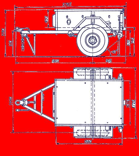 Прицеп для машины чертежи размеры