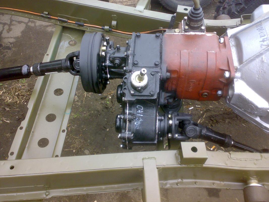 схема установки на уаз раздатки газ 69
