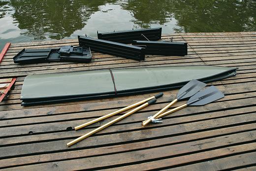 складной шест для лодки