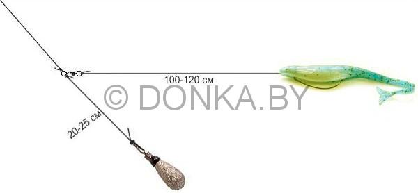 ловля судака на отводной поводок на виброхвост