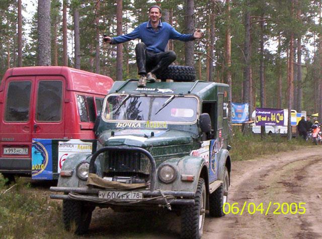 На финише первого спец. участка Илья
