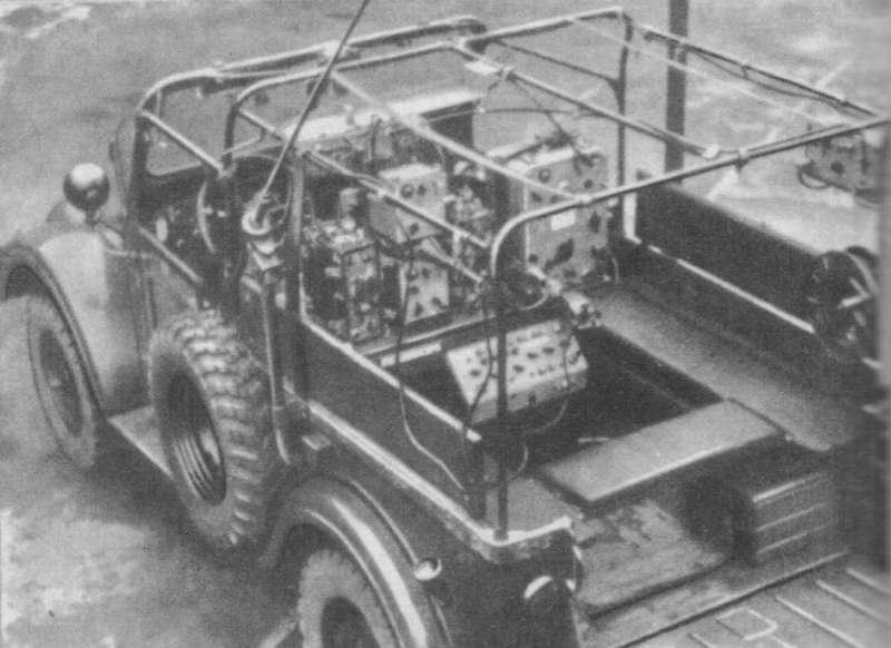 Размещение радиостанции Р-104 в ГАЗ-69