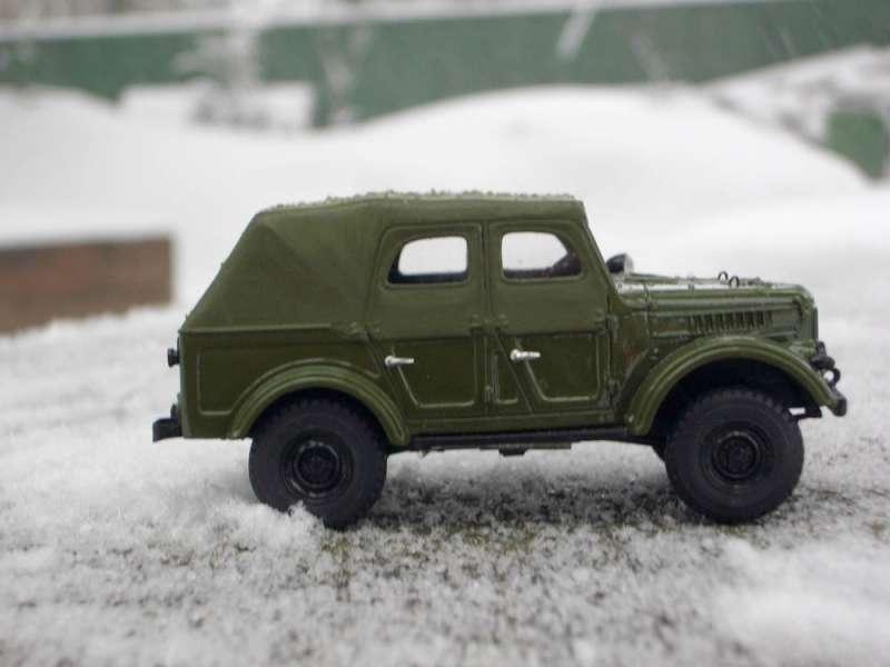 Модель автомобиля ГАЗ-69А 1:43