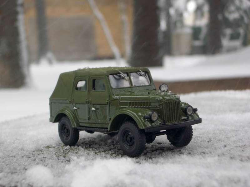 Модель автомобиля ГАЗ-69А 1:43 - хороший ракурс