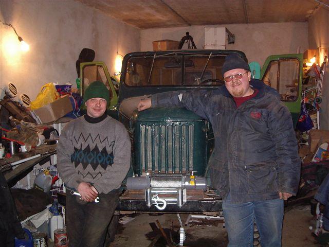 получаем ГАЗ-69А с лебёдкой