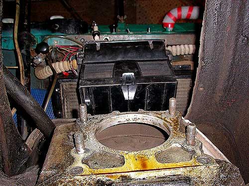 Жигулевская печка хорошо видна при снятой КПП