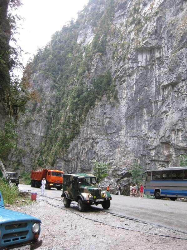 Абхазия дорога на озеро Рица