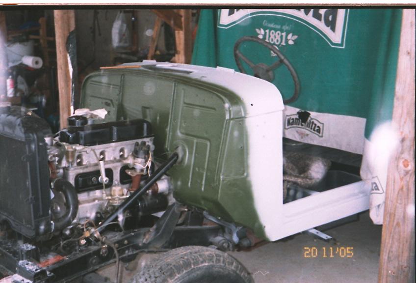 Поставлен отремнтированны М-21, радиатор и консолы для телескопические амортизаторы