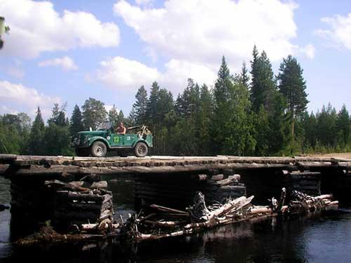 Проезд по сгоревшему мосту