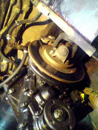 Дисковый стояночный тормоз на кардане