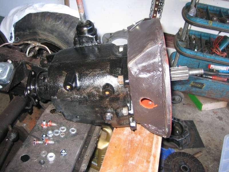 Adaptornaja plata korobki gas 69 k diselnomu motoru IFA(GDR)