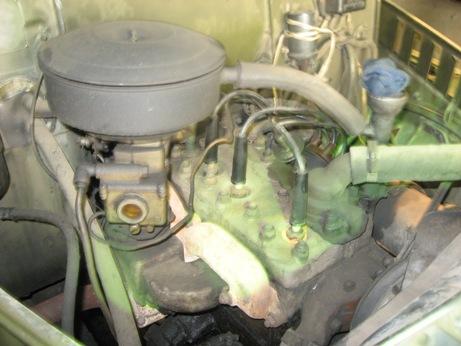 Вид на двигатель