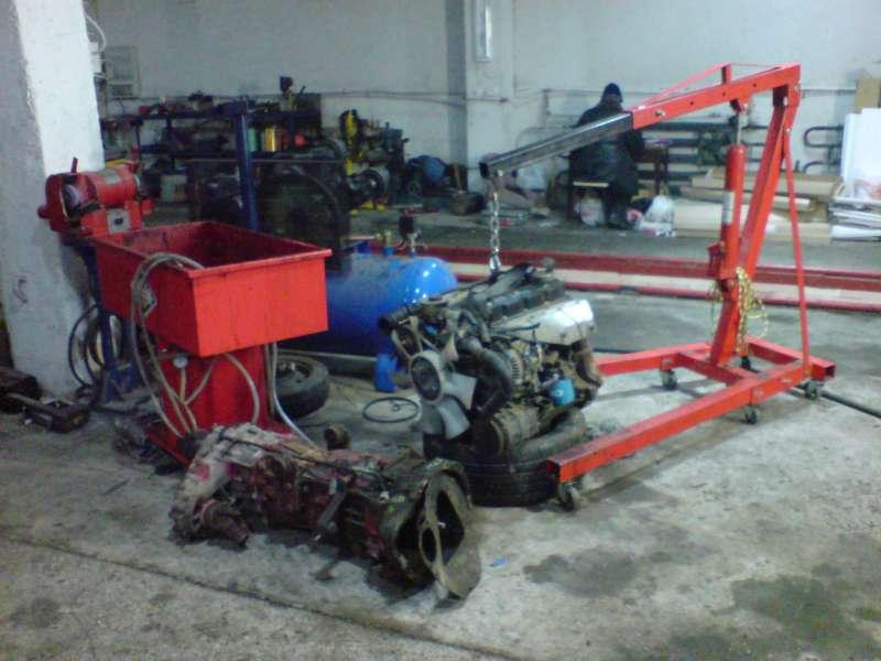 QD32 вес 400кг  и коробка 4WD от TD27 вес 150кг